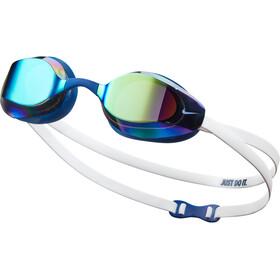 Nike Swim Vapor Mirror Occhiali Maschera, bianco/blu